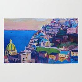 Amazing Amalfi Coast at Sunset in Italy Rug