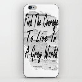 Gray World iPhone Skin