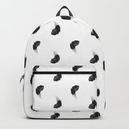 Black feather Backpack