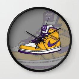 J1-Lakers Wall Clock