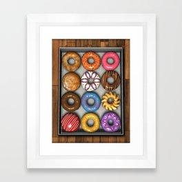 Box of Doughnuts Framed Art Print