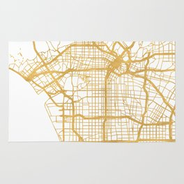 LOS ANGELES CALIFORNIA CITY STREET MAP ART Rug