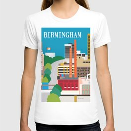 Birmingham, Alabama - Skyline Illustration by Loose Petals T-shirt