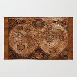 Vintage Olde Worlde Map 1620 Rug