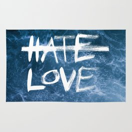 HATE LESS LOVE MORE Rug