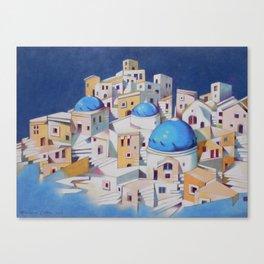 Memory of Santorini Canvas Print