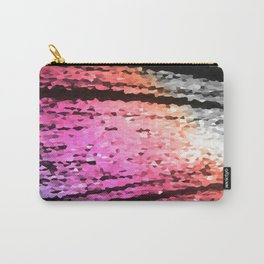 Lavender Pink Peach Crystal Texture Carry-All Pouch