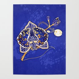 Egyptian Blue :: Orchid Poster