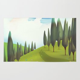 Alpine Meadow landscape Rug