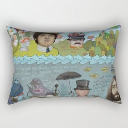 Lonely Hearts, Rubber Soul & Magical Yellow Submarine Tour Rectangular Pillow