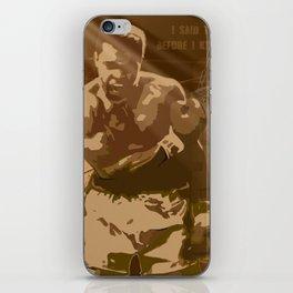 The Champ: Ali iPhone Skin
