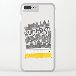 Budapest Cityscape Clear iPhone Case