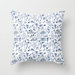 DC in Blue Throw Pillow