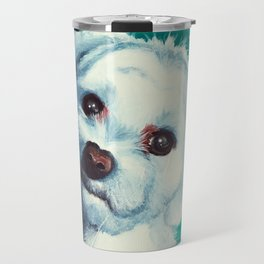 Maltese dog - Pelusa - by LiliFlore Travel Mug
