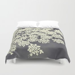 Black and White Queen Annes Lace Duvet Cover