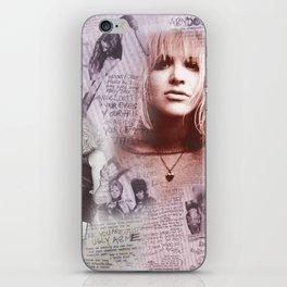Courtney Zine Style Art iPhone Skin