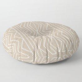 Cream Linen Beige Arrows Pattern Floor Pillow
