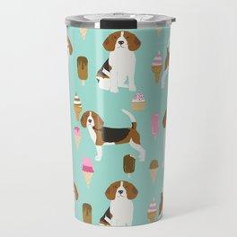 beagle ice creams dog lover pet gifts cute beagles pure breeds Travel Mug
