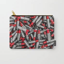 Lipstick chrome / 3D render of red chrome lipsticks Carry-All Pouch