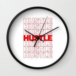 Hustle Thank You Plastic Bag Typography Wall Clock