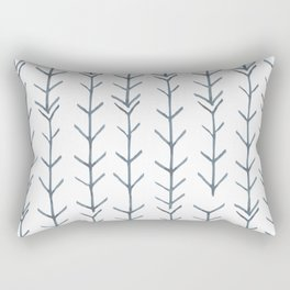 Twigs and branches freeform gray Rectangular Pillow