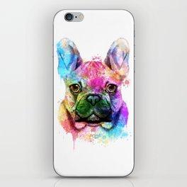 French bulldog Watercolor iPhone Skin