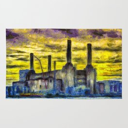 Battersea Power Station Van Gogh Rug
