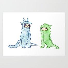 dragon brothers Art Print