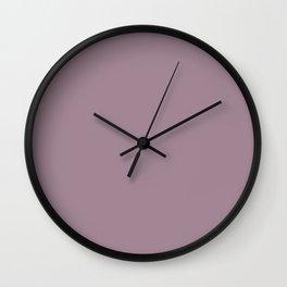 Solid Color Series - Desaturated Magenta Wall Clock