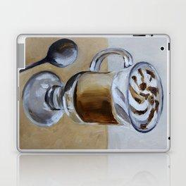 Coffee latte, original oil painting, art Laptop & iPad Skin