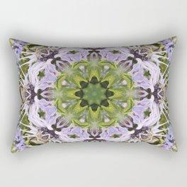 Lacy Lavender Wild Bergamot Kaleidoscope Rectangular Pillow