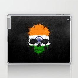 Flag of India on a Chaotic Splatter Skull Laptop & iPad Skin