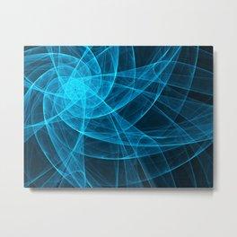 Tulles Star Computer Art in Blue Metal Print