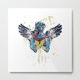 Fallen Hero Eagle Metal Print