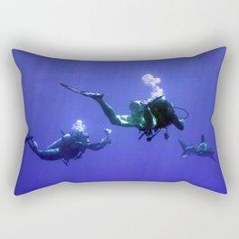 Photographing an Oceanic Whitetip Rectangular Pillow
