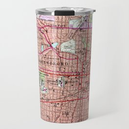 Vintage Map of Greensboro North Carolina (1951) 2 Travel Mug