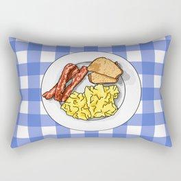 Ron Swanson Breakfast Poster Rectangular Pillow