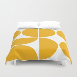 Mid Century Modern Yellow Square Duvet Cover