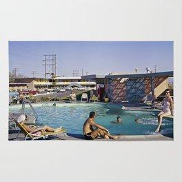 1958 Empey's Desert Villa pool in Las Vegas, Nevada. Retro Motel Rug
