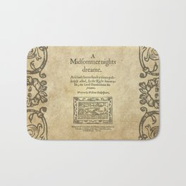 Shakespeare. A midsummer night's dream, 1600 Bath Mat