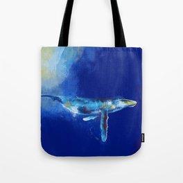 Deep Blue Whale Tote Bag