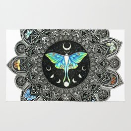 Lunar Moth Mandala Rug