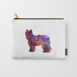 Briard in watercolor Carry-All Pouch