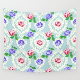 Shabby Chic Rose Pattern Wall Tapestry