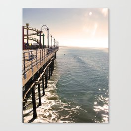 Santa Monica Pier perspective Canvas Print