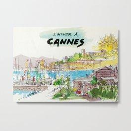 Winter In Cannes Metal Print