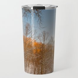 Golden Winter Forest Travel Mug