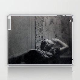 Slytherin Inspired Gothic Dark Angel Black and White Laptop & iPad Skin