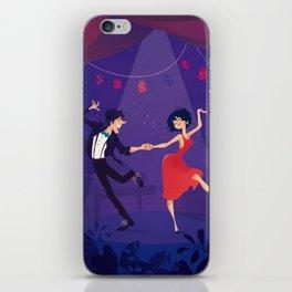 Dancing night couple iPhone Skin