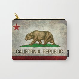 California Republic state flag Vintage Carry-All Pouch